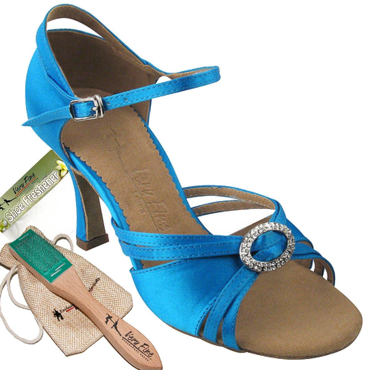 Women's Ballroom Dance Shoes Tango Wedding Salsa Dance Shoes Blue Sera1154EB Comfortable - Very Fine 2.5'' Heel 6.5 M US [Bundle of 5]