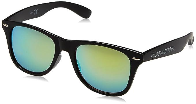 Customobel Unisex-Erwachsene Satfford Sonnenbrille, Gelb (Negro/Amarillo), 4