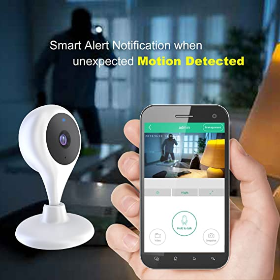 Wireless Security Camera, MiSafes WiFi Baby Pet Video Monitors 1280x720p HD  Remote Home Surveillance Indoor IP Cameras with 2 Way Audio Talk for