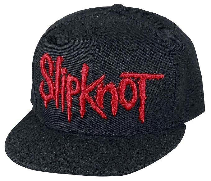 Slipknot Logo Cap black  Amazon.co.uk  Clothing 63cb12c6553