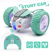 Deals on QUN FENG Remote Control Car Small Size, Mint Green