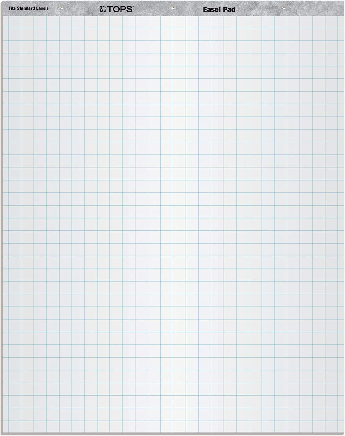 TOPS Standard Easel Pads, 3-Hole Punched, 27 x 34 Inch, 1