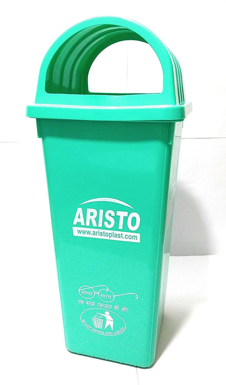 Aristo Square Dome Garbage Waste Dustbin 110 Ltr (Green): Amazon.in ...