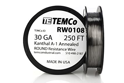 TEMCo Kanthal A1 wire 30 Gauge 250 Ft Resistance AWG A-1 ga ...