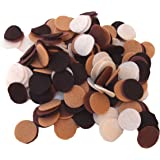 200 Piece Brown, Cocoa, Camel, Cream Color Assortment of 1 inch Felt Circles