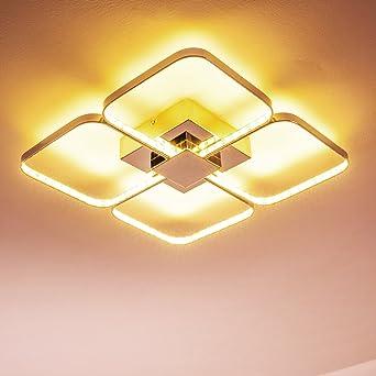 LED Deckenlampe Sepino U2013 Extravagantes Design Aus 4 Drehbaren  Licht Quadraten   Zimmerlampe Für Wohnzimmer