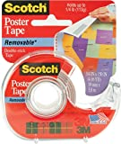 3M 109 Wallsaver Removable Mounting Tape - two pack (2 pack, white)