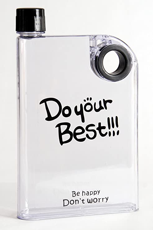 3a072ffae8 Buy celebrationgift Be Happy Clear A5 Water Bottle Memo, Notebook Water  Bottle 380ml-Black Online at Low Prices in India - Amazon.in