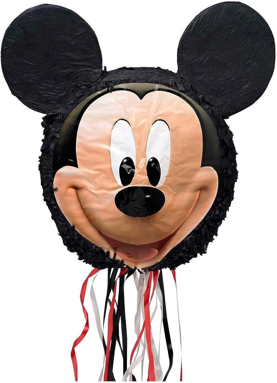 Mickey Minnie Jumbo Black Mouse Ears Headband Nose Animal Costume Kit Set