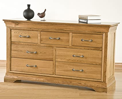 French Solid Oak Bedroom Furniture 3 Over 4 Chest Of Drawers Amazon Co Uk Kitchen Home