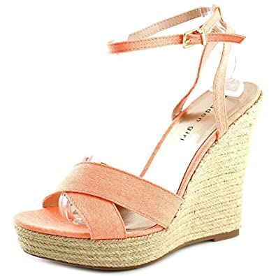 fad9ee18566 Image Unavailable. Image not available for. Color  Madden Girl Womens  Viicki Canvas Open Toe Casual Platform ...
