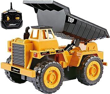 Oferta amazon: Top Race Camiones de construcción con Control Remoto para niños pequeños, Elija Entre Nuestros 3 diseños fabulosos (Camión de la Basura (112S))