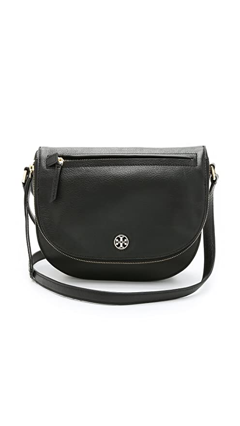272627cd74f Buy Tory Burch Brody Saddle Bag in Black Online at Low Prices in India -  Amazon.in
