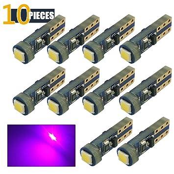 10 x bombillas LED para cuadro de mandos T5 1-3030 SMD, azul claro