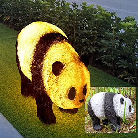 SQL Luces LED para jardín de Panda, 110-220 V Resina para Patio Iluminación IP44 Impermeable al Aire Libre, para jardín, Patio, decoración de Patio Trasero,A: Amazon.es: Hogar