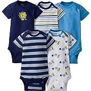 Gerber Baby Boys 5 Pack Onesies (6-9 Months, Lion)