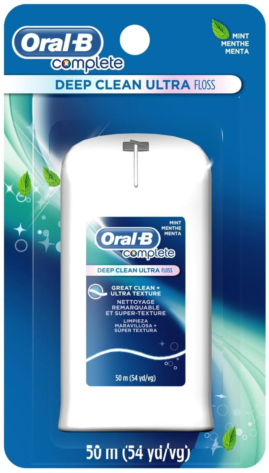 Oral-B Complete Deep Clean Ultra Floss, mint floss, 50m (54 yd/vg)