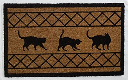 Quintessentially English Large, Thick, Decorative, Patterned Coir Door Mats  With Nature Designs (