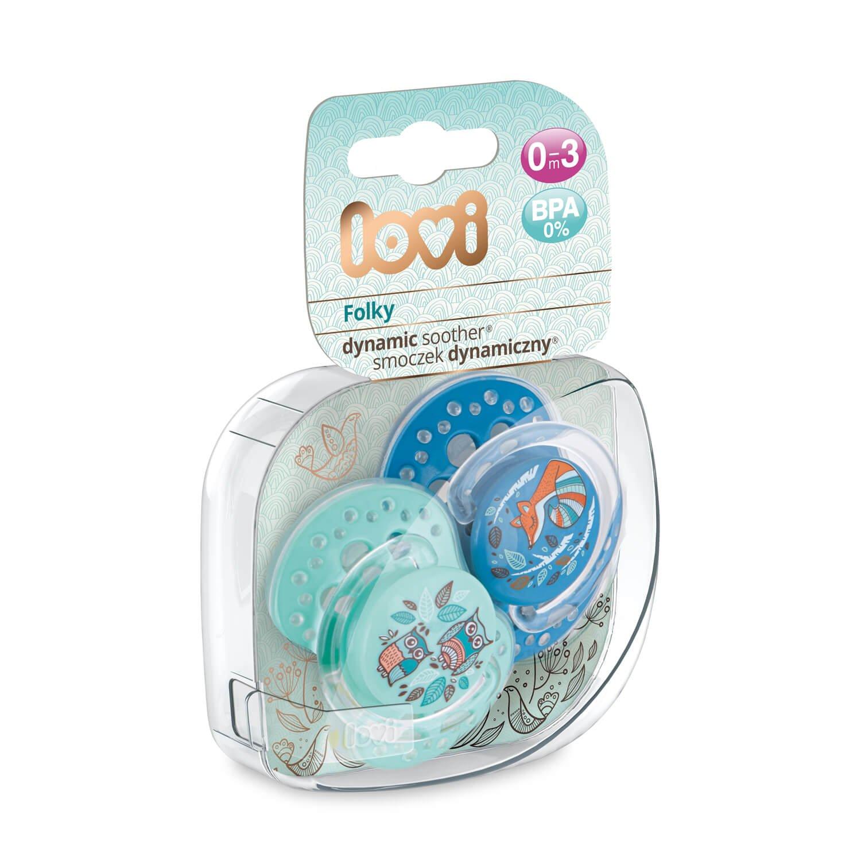LOVI 2x Chupete Silicona para Bebés de 0-3 meses | Cubierta Higiénica | Efecto Calmante | Protege el Reflejo Natural de Succión de Bebé | Folky ...