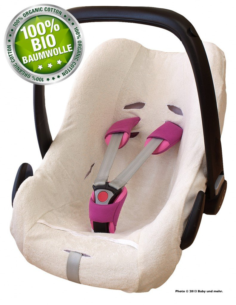 Byboom - 100% Organic Cotton Terry Car Seat Summer Cover, Protective