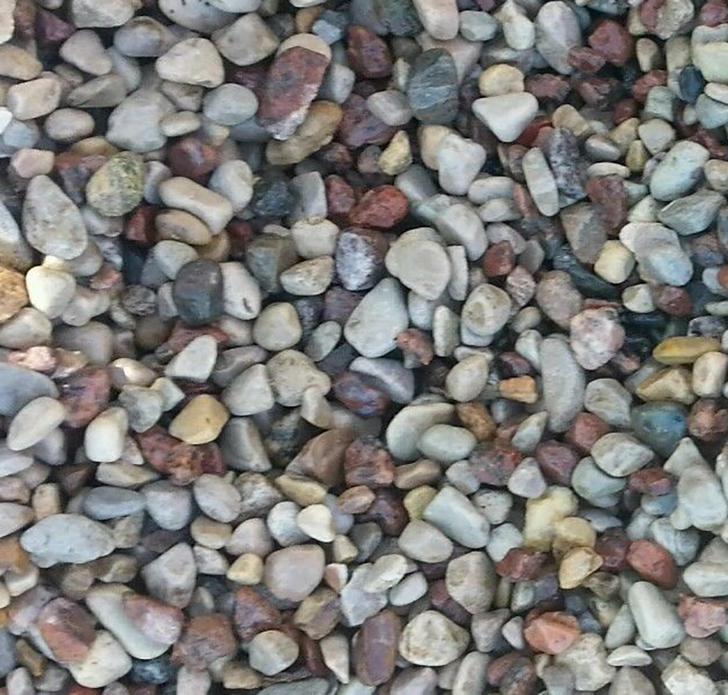 Safe & Non-Toxic {Large Size, 1'' Inch} 25 Pound Bag of Gravel, Rocks & Stones Decor for Freshwater Aquarium w/ Earth Toned Rustic Natural Simple Smooth River Inspired Style [Tan, Red & Gray]