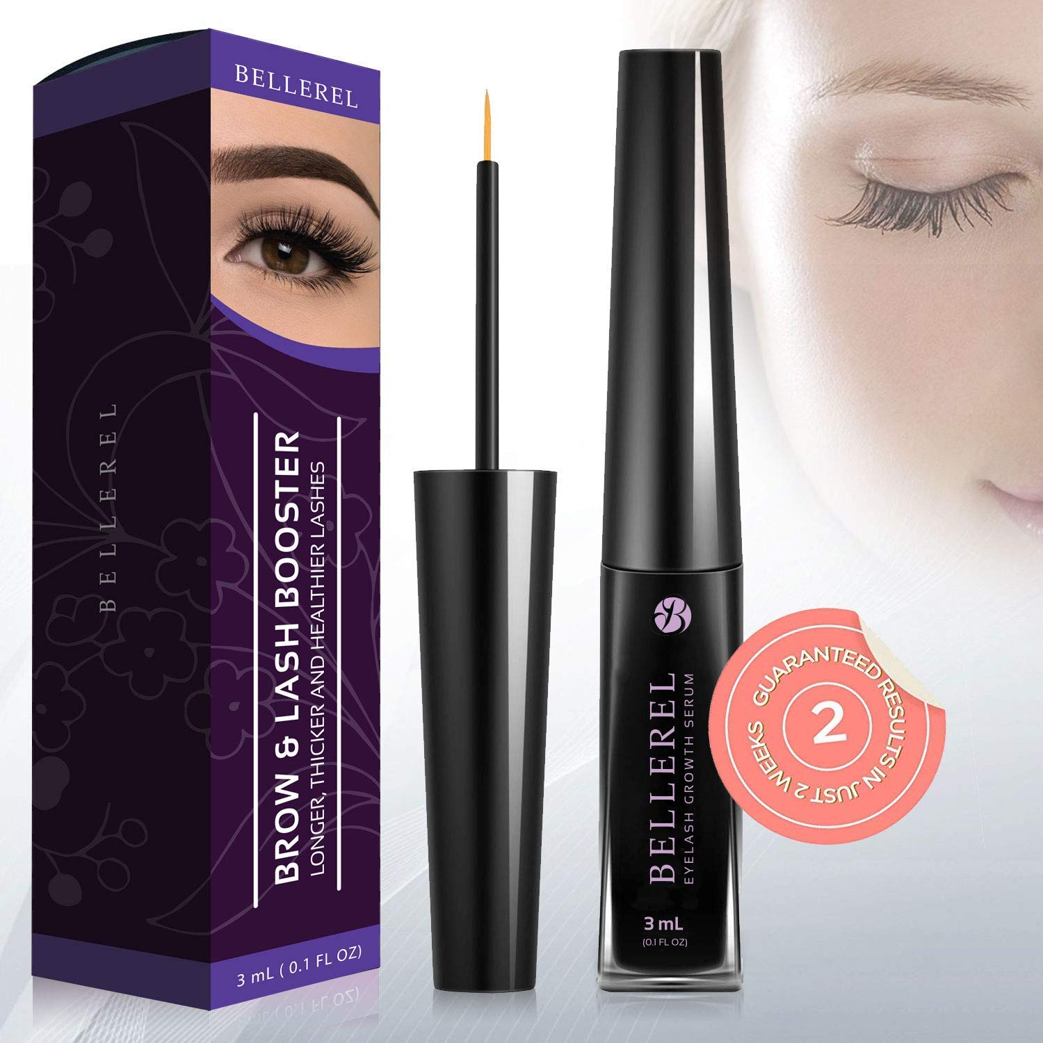b42962e3e3f Eyelash Growth Serum Lash and Brow Booster Serum for Long, Luscious Lashes  and Eyebrows (3ML): Amazon.ca: Beauty