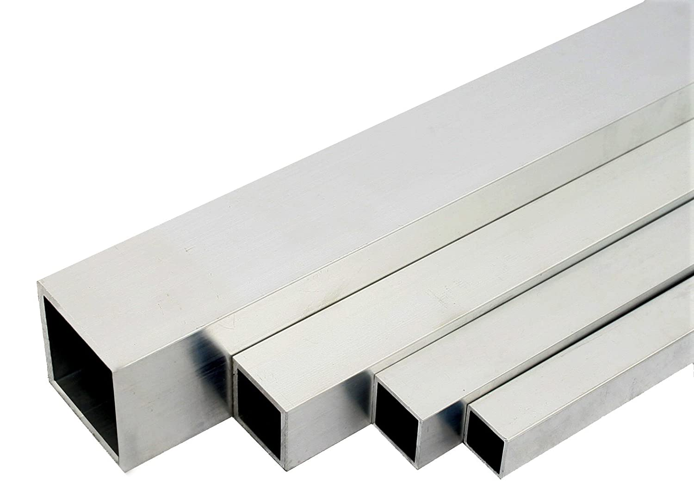 Aluminium tubes carr/és en AW-6060 finition T66 Mill 50x50x2 mm 2000mm