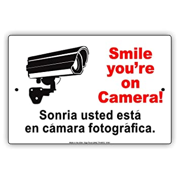 Amazon.com: Smile Youre On Our Camera Video Security CCTV ...