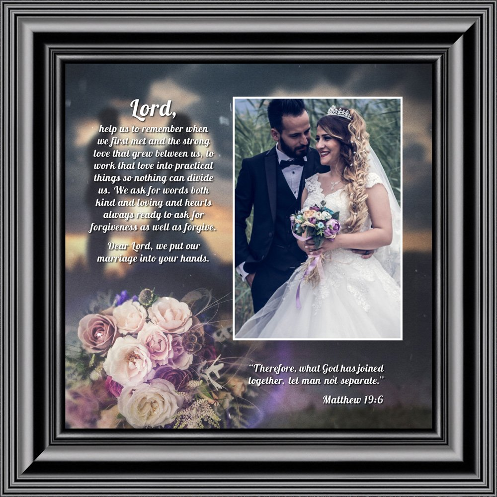 Personally Yours Marriage Prayer, Signs With Scripture, Christian Marriage Gift, 10x10 6325B