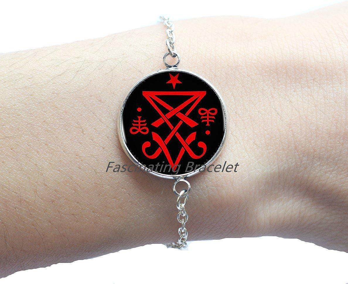 Fashion Bracelet,Occult Sigil of Lucifer Satanic Bracelets Statement Bracelet Cheap Jewelry Collar Small Gift,AE0037