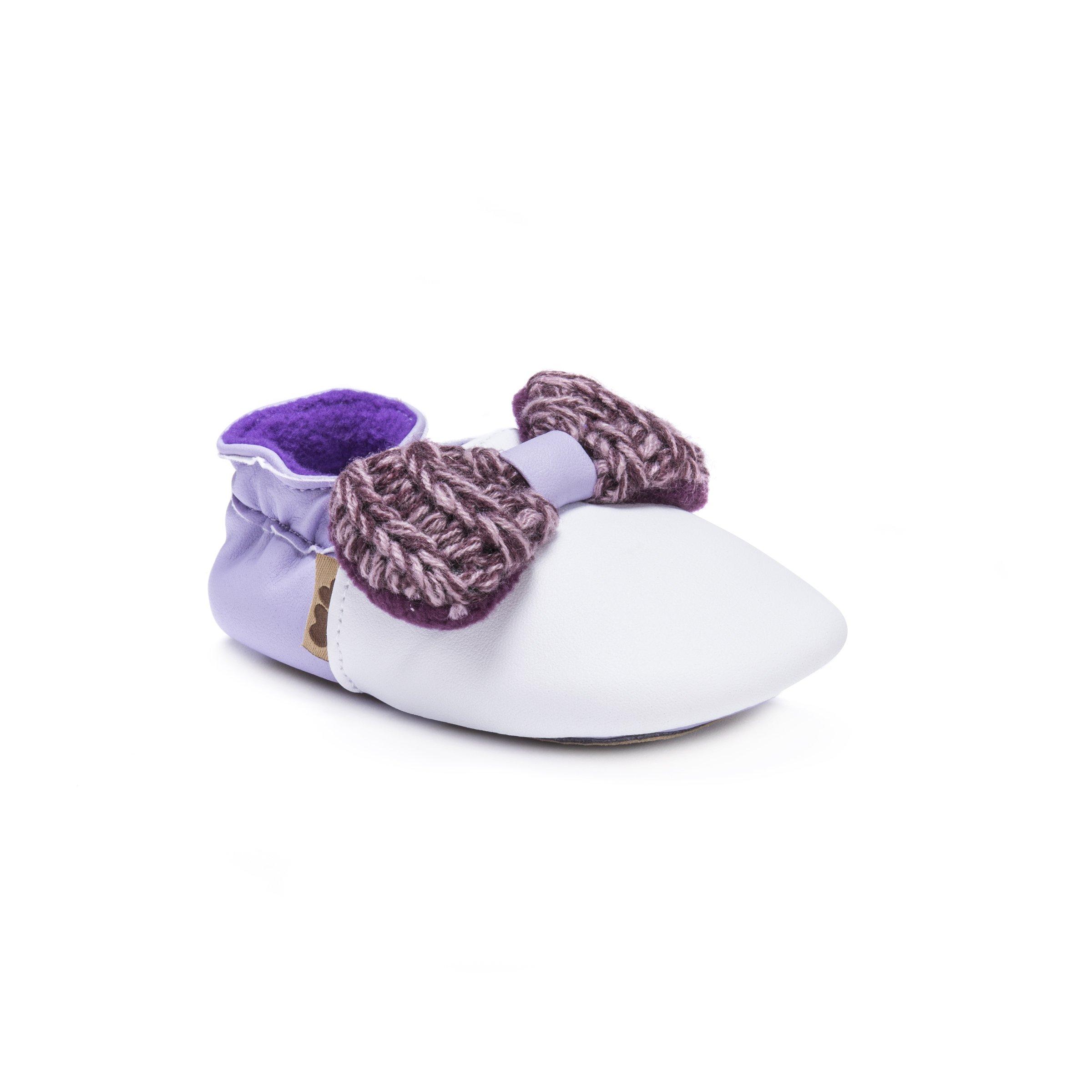 MUK LUKS Girls Baby Soft Shoes-Plum Mary Jane Flat Purple 0-6 Months M US Infant