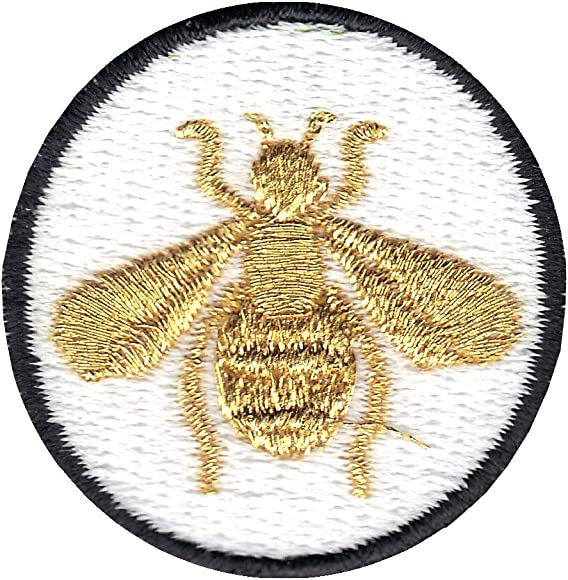 Embroidery Applique Patch Sew Iron Badge Iron On Red Gold Bee Bug XS
