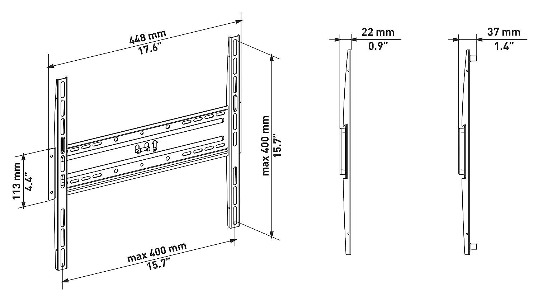 WeMount W-A200 Supporto per LED//Plasma//LCD//Monitor per Diagonale Schermo 26 Fino a 40 Nero