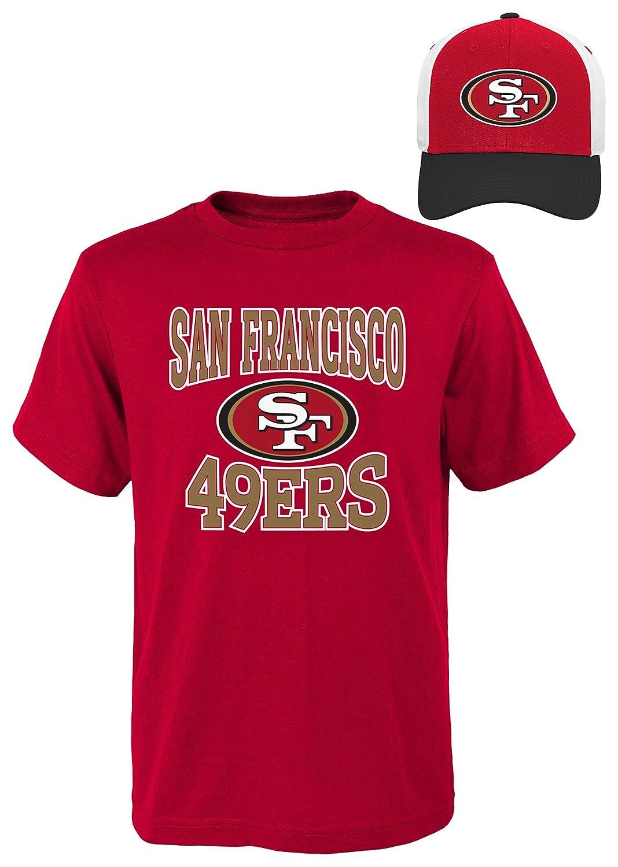 NFL Youthボーイズ半袖Tシャツと帽子セット Youth Boys Medium(10-12) レッド   B01M7R88HX