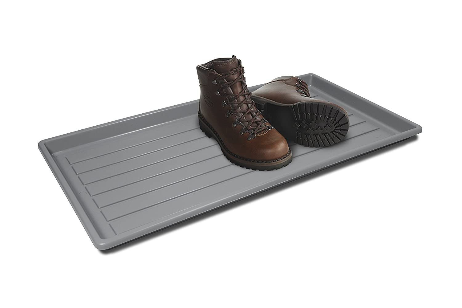 Storex Boot and Shoe Household Utility Tray, Black (00800U01C)