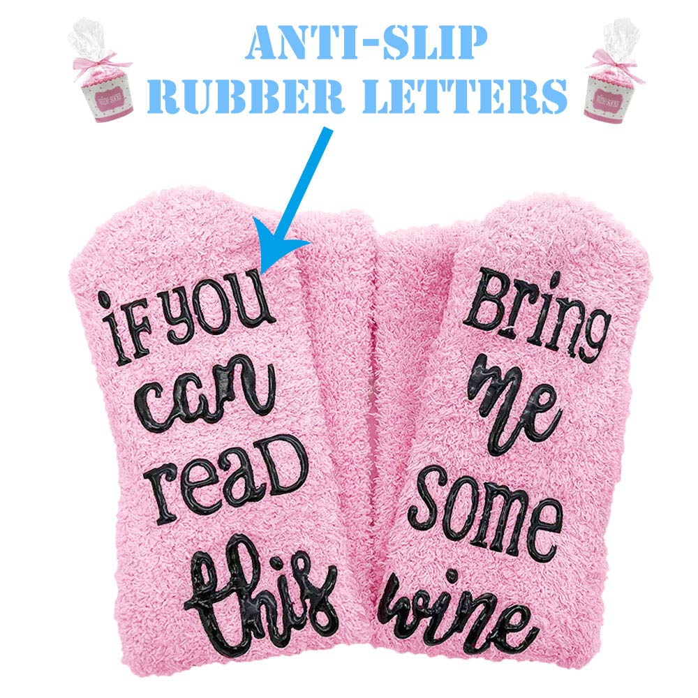 ''If you can read this bring me some wine'' funny novelty wine socks, wine accessories for wine lover and gifts for Lovers Couples Parents or Her Like Women Wife Girlfriend and He like Men Boyfriend H by Sowin (Image #7)