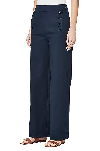 next Donna Pantaloni Con Dettagli A Bottone Reg/Long Blu Navy EU 40 Long (UK 12L)