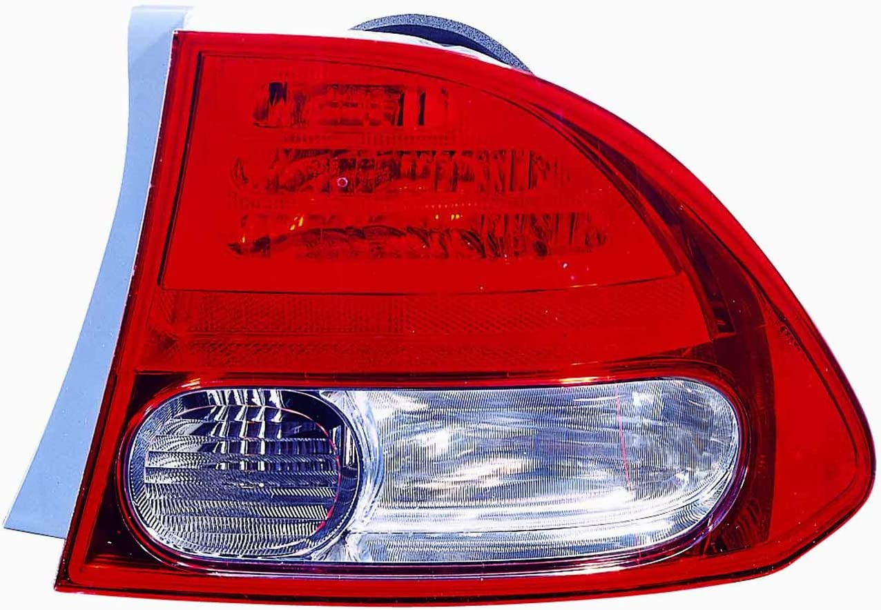 Depo 317-1979L-UC-CR Honda Civic Driver Side Replacement Taillight Unit without Bulb