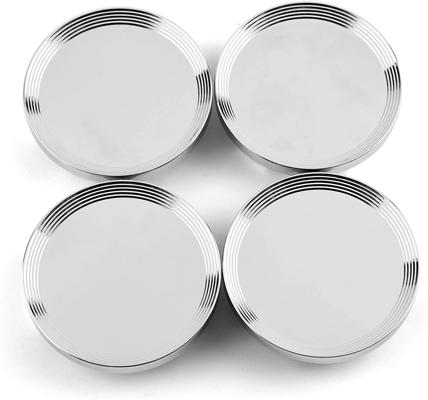 CC RTRHINOTUNING 66mm 55mm Chrome Silver Car Wheel Center Hub Caps Set of 4 for Beetle 2017 2017