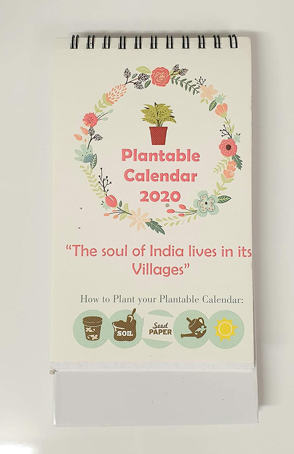 Plantable eco Sprouting 2020 Calendar Plant herb Flower Recycled Stationery with Seeds