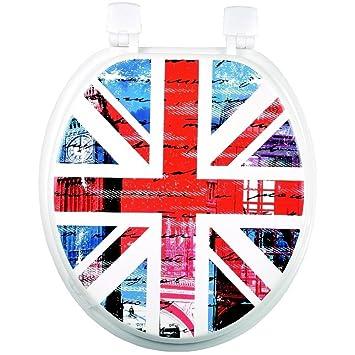 WC Sitz WC Deko London Flagge Design Königreich Uni Holz ...