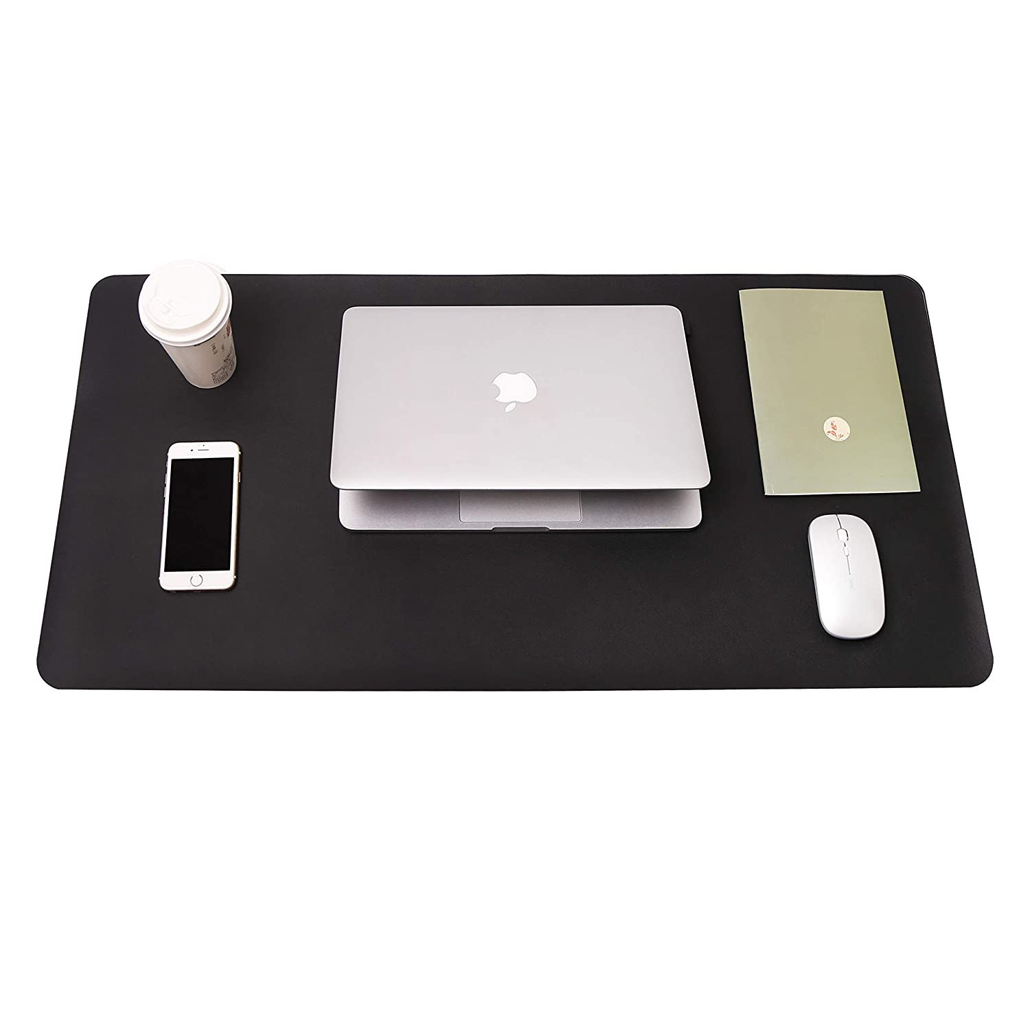 "Writing Desk Pad Protector, YSAGi Anti-Slip Thin Mousepad for Computers,Office Desk Accessories Laptop Waterproof Desk Protector for Office Decor and Home(Black, 31.5"" x 15.7"")"
