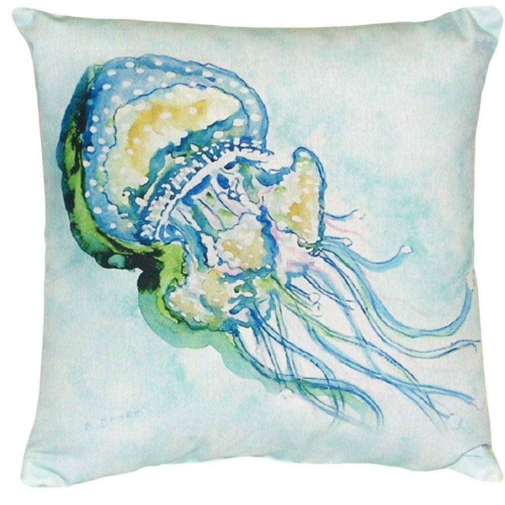 Betsy Drake NC056 Jelly Fish No Cord Pillow 18 x18