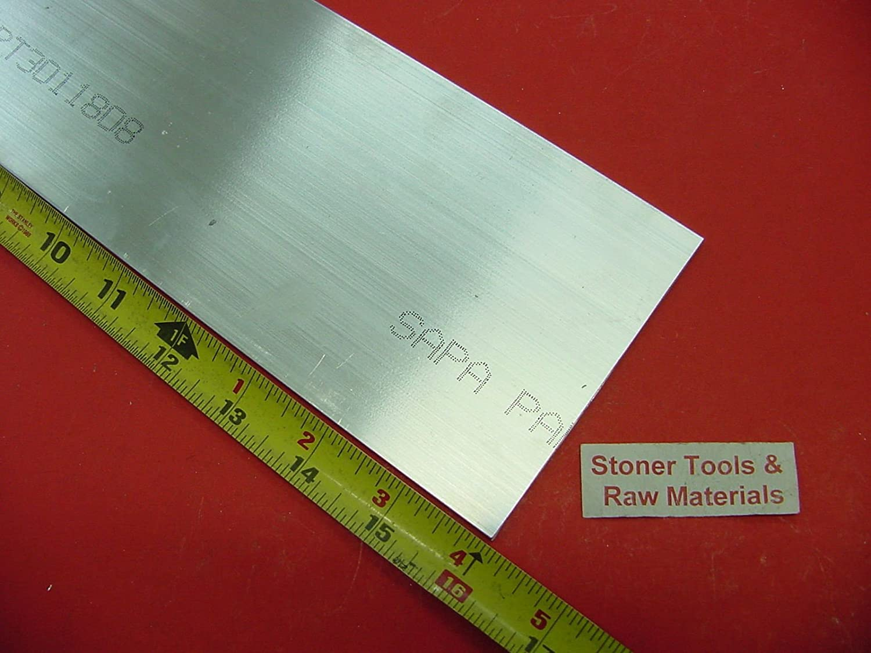 "2/"" X 8/"" ALUMINUM 6061 FLAT BAR 17/"" long Solid T6511 2.00/"" Plate Mill Stock"