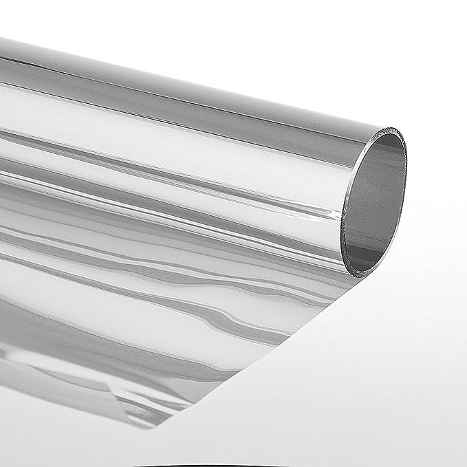 Sonnenschutzfolie Extrem mit Spiegeleffekt Selbstklebend Fensterfolie 152 x 3000 cm Silber