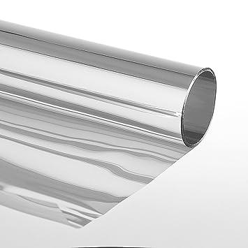 Sonnenschutzfolie Extrem Selbstklebend mit Spiegeleffekt Fensterfolie T/önungsfolie Schutzfolie  Silber,75 x 600 cm Silber
