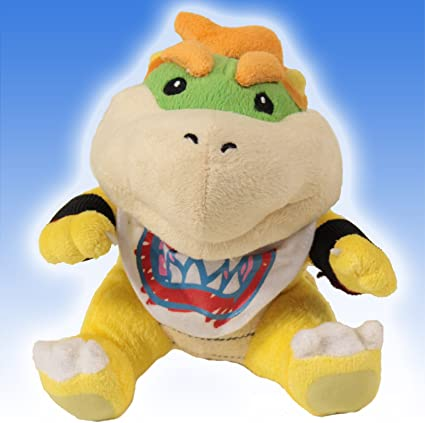 Super Mario Brothers Super Mario Bros Small Bowser Jr Plush Doll Yellow 18cm