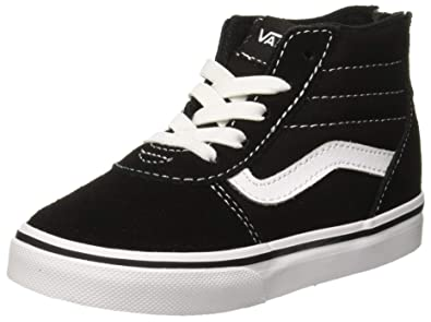 c47d53a3f0 Vans Babies  Ward Hi Zip Low-Top Sneakers Suede Canvas Black White Car