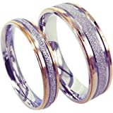 Everstone anillo de pareja Anillo de bodas Anillos de compromiso Anillos de plata pulidos de titanio Tamaño: 7-37