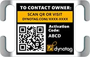 Dynotag Web Enabled Super Pet ID Smart Tag. Slider Style w. DynoIQ & Lifetime Recovery Service (Open Slot, Tag only)